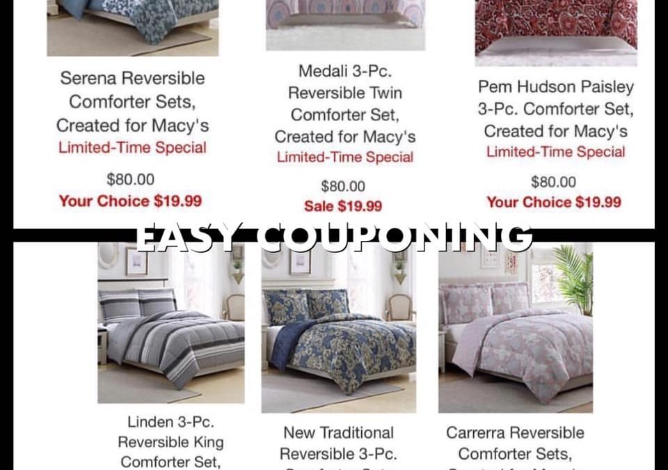 Macy's: $19.99 – Comforter Sets