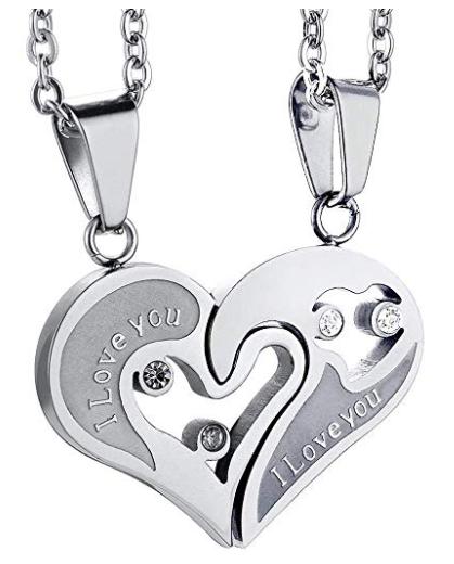 Amazon: $2.16 – Lioder Couple Necklaces Fashion Broken Heart Pendant