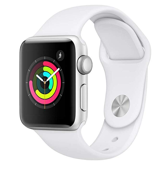 Amazon: Apple Watch Series 3 (GPS, 38mm) – Silver Aluminium Case with White Sport Band – $199
