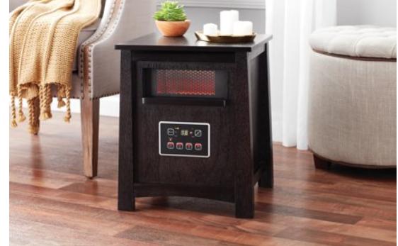 Walmart: $39.97- Mainstays Infrared Quartz Cabinet Heater