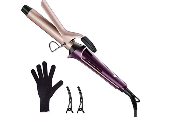 Amazon: LEPO Hair Curling Iron, Hair Curler with Tourmaline Ceramic Coating for All Hairstyles with Heat Resistant Glove and Hair Clips – $8.80
