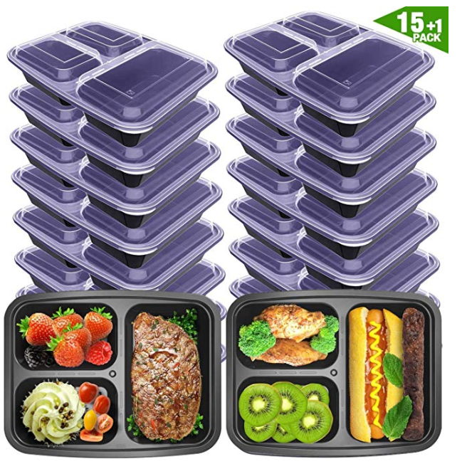 Amazon: VANCOOL Meal Prep Containers 3 Compartment with Lids BPA Free Food Storage Bento Style Lunch Boxes for Portion Control – $8.99