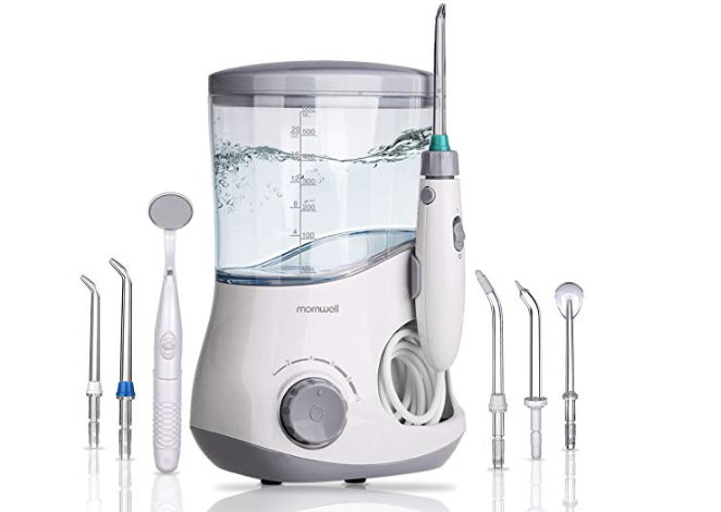 Amazon: Mornwell D51 Water Flosser for Family, 600ml Electric Oral Irrigator Water Jet Teeth Cleaner, Professional Home Dental Care – $13.20