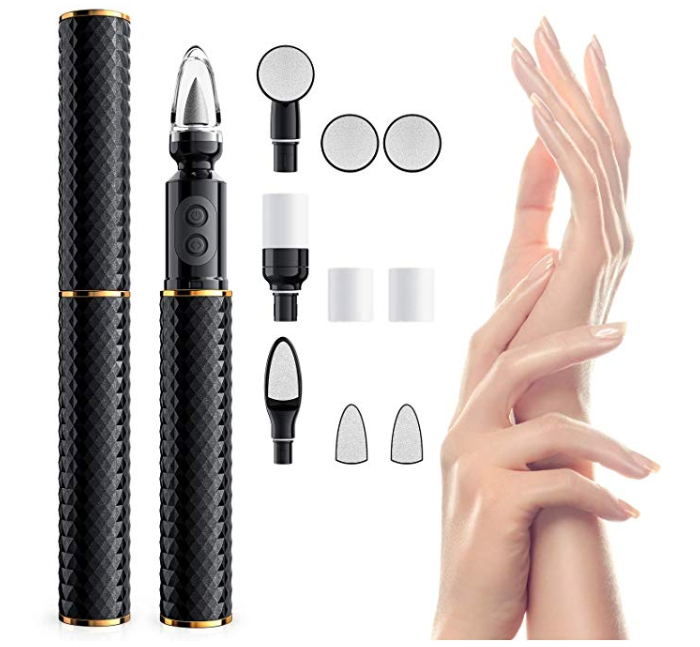 Amazon: Electric Nail Drill, Vodool 10 in 1 Portable Rechargable Acrylic Nail File – $7.99
