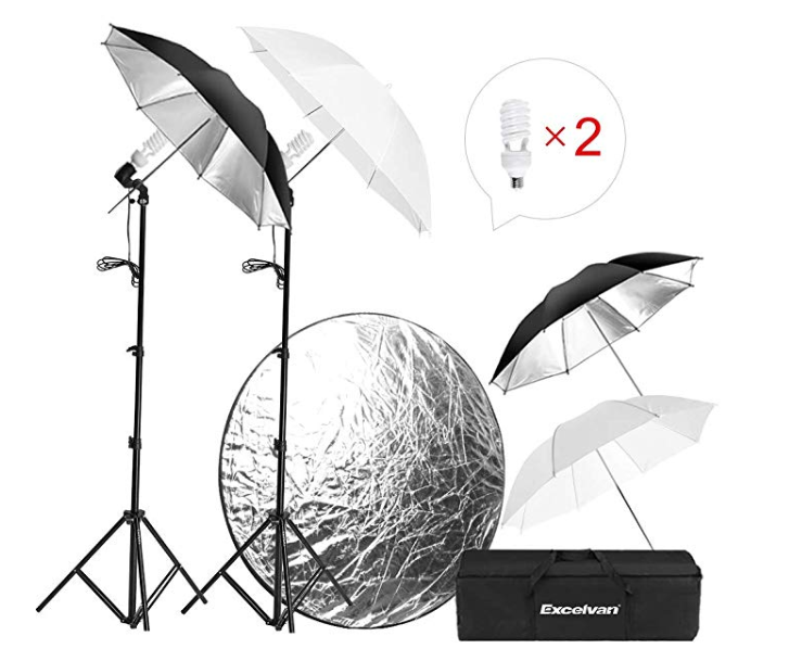 Amazon: Excelvan Photography Studio Lighting Kit – $19.99