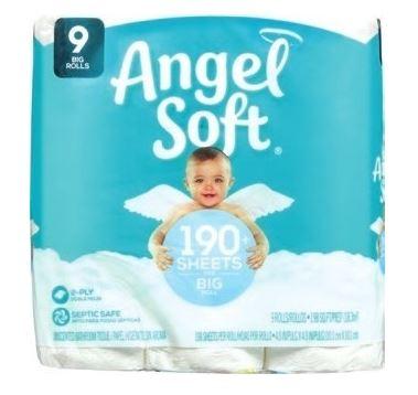 Walgreens: $0.50 OFF Angel Soft Tissue – 9 Big Rolls