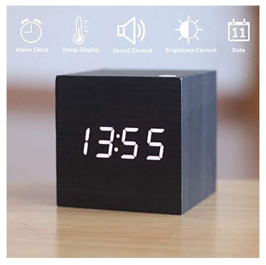 Amazon: $8.00 – Wooden LED Digital Alarm Clock