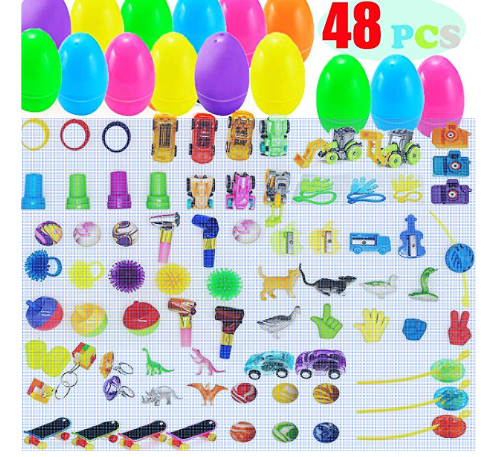 Amazon: AISENO 48 Pack Toy Filled Easter Eggs with Toys Inside – $9.98