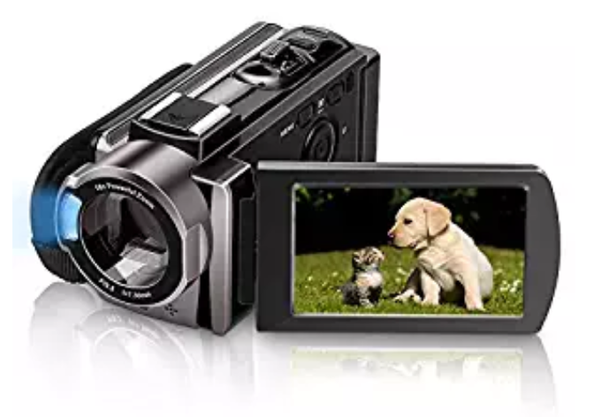 Amazon: Video Camera Camcorder MELCAM HD 1080P 24.0MP, 3.0 inch LCD 270 Degrees Rotatable Screen, Smile Capture (auto Capture), Small YouTube Vlogging Camera, 16X Digital Zoom Camera Recorder and 2 Batteries – $18.70