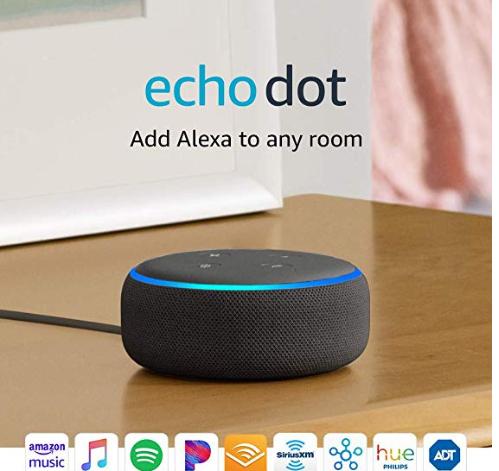 Amazon: Echo Dot (3rd Gen) – Smart speaker with Alexa – Charcoal – (3) for $69.97