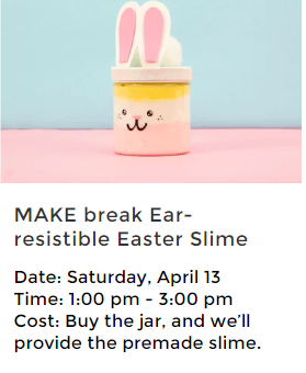 Free Easter Slime Project at Michael's