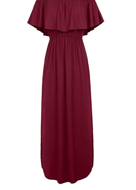 Amazon: GRACE KARIN Womens Off The Shoulder Ruffle Party Summer Dresses Maxi Dress – $10.49