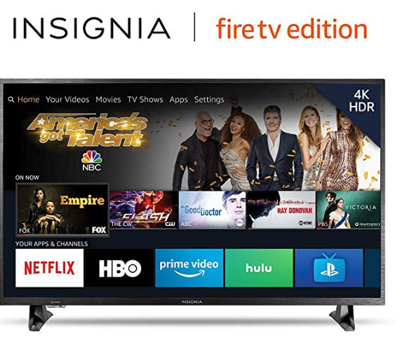 Amazon: Insignia NS-43DF710NA19 43-inch 4K Ultra HD Smart LED TV HDR – Fire TV Edition – $179