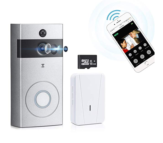 Amazon: Smart Video Doorbell Camera WONYERED Home Security Camera 720P HD Wireless WIFI Camera Doorbell with 16G TF Card and Chime App Control for IOS and Android – $32.49