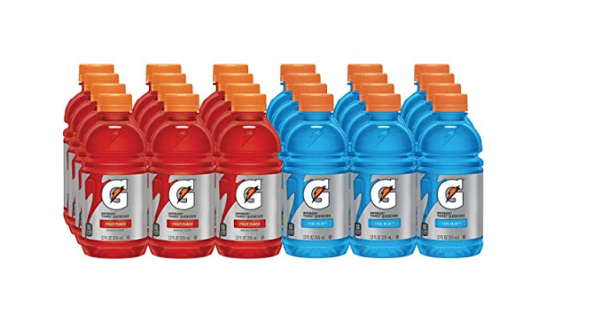Amazon: Gatorade Thirst Quencher, Fruit Punch and Cool Blue Variety Pack, 12 Ounce (Pack of 24) – $8.14