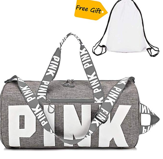 Amazon: Gym Bag For Women, Gym Duffle Bag For Women And Girls Gym Sports For Men with Drawstring Backpack as Gift (Grey) – $16.49