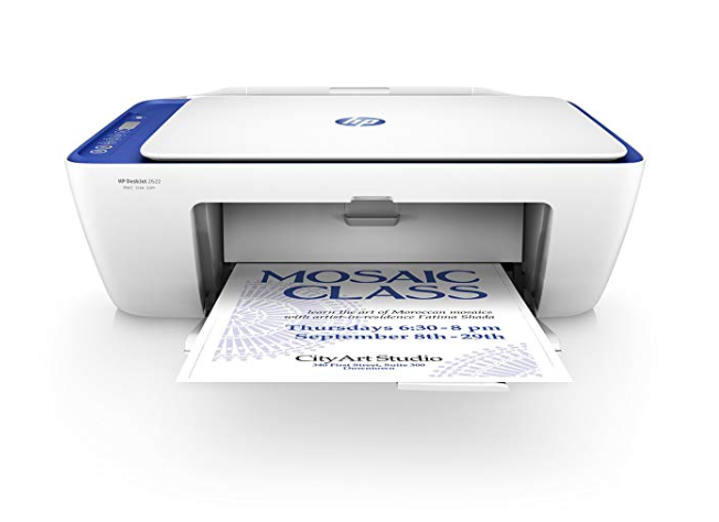 Amazon: HP DeskJet 2622 All-in-One Compact Printer (Blue) (V1N07A – $19