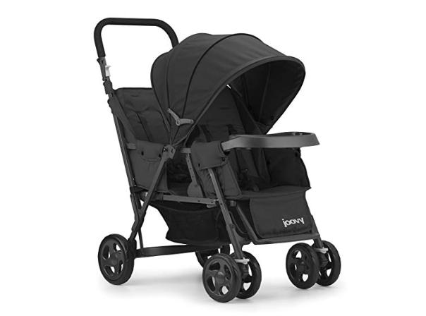 Amazon: JOOVY Caboose Too Graphite Stand-On Tandem Stroller, Black – $89.02