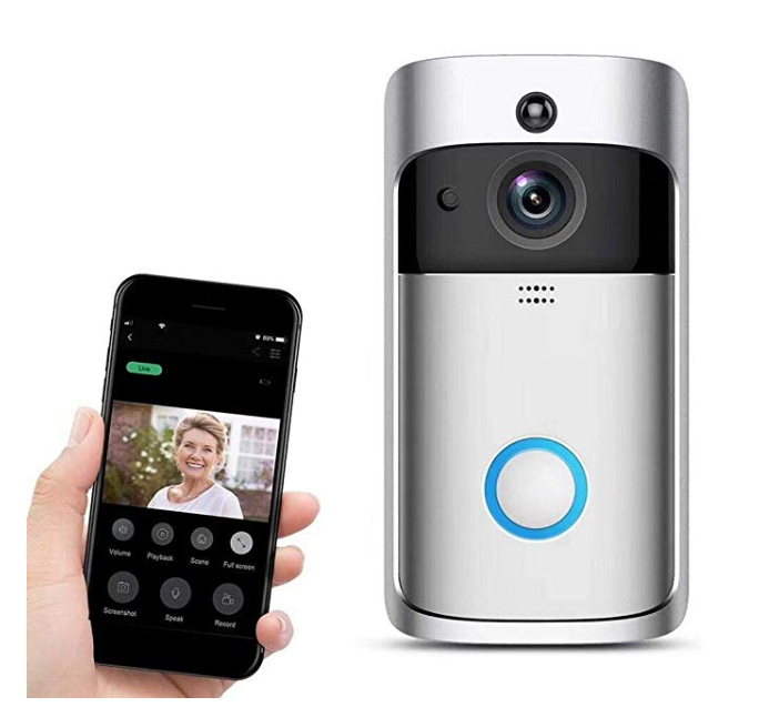 Amazon: Yirind WiFi Smart Video Doorbell 720P HD Wireless Remote Home Security Doorbell with Two-Way Talk,166° Super Wide-Angle Lens,Motion Detection & Night Vision,Silver – $39
