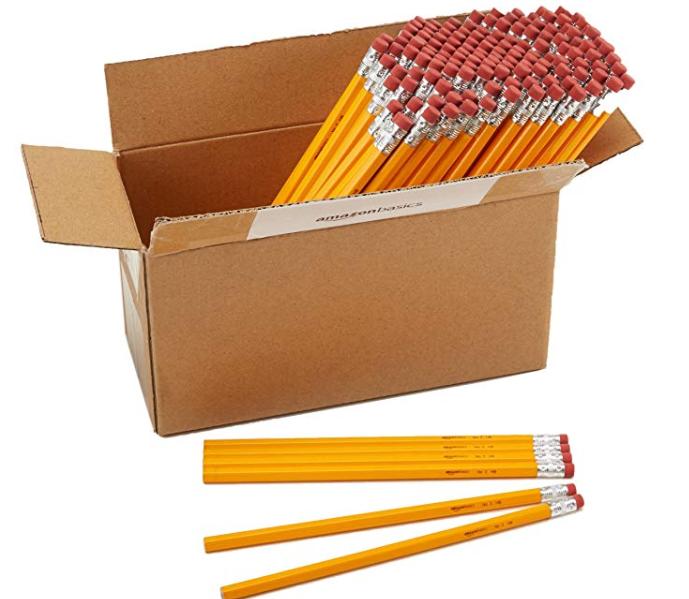 Amazon: AmazonBasics Wood-cased Bulk Pencils – #2 HB Pencil – Box of 144 – $9.99