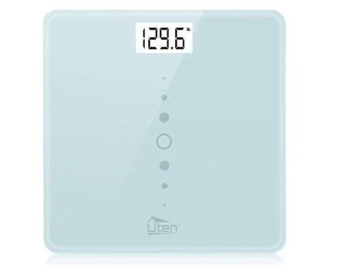 Amazon: Uten Digital Body Weight Bathroom Scales with Step-On Technology, Backlight Display, Round Corner Design and 8MM Glass, 440lb/200kg Capacity (Light Blue) – $8.81