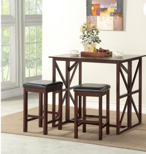 Walmart: Better Homes & Gardens Carrington Drop Leaf Counter Height Dining Set – $53.76