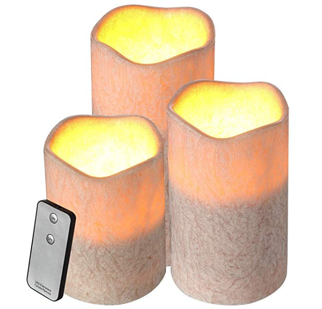 Amazon: Housmile Flameless Candle 3 Pack Set Dripless Wax Candle Light with Remote Control, Candle Light for Decoration and Party – $6.99