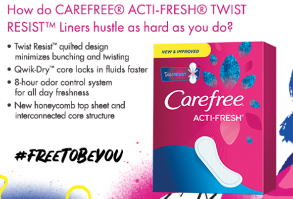 Free 10ct Sample of Carefree Liners