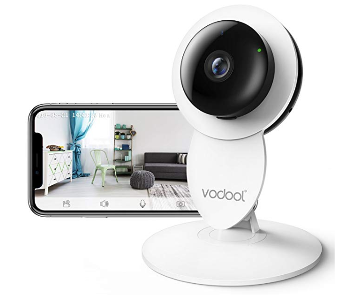 Amazon: Vodool 1080p Home Camera, Indoor IP Surveillance Home Security Camera System Night Vision, Wireless Wi-Fi Remote Monitor iOS & Android App, Clear Two-Way Audio, Motion Detection Alert (White) – $12.99