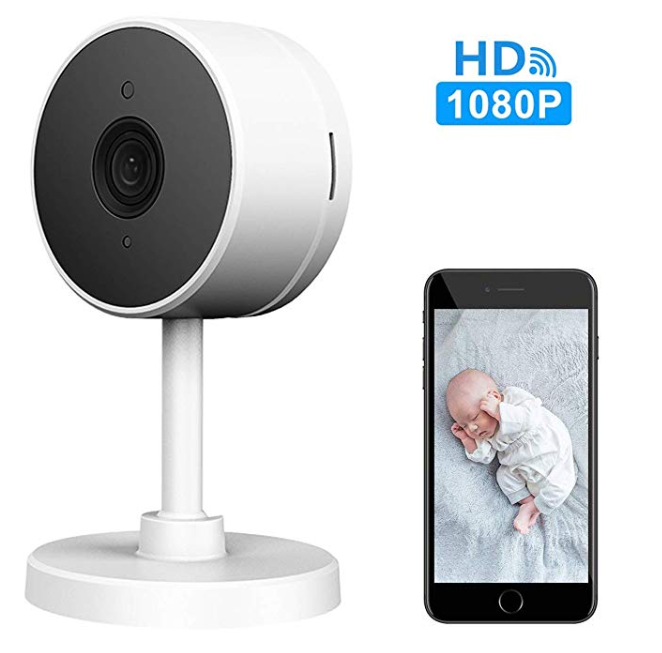 Amazon: LARKKEY WiFi Home Security Surveillance Camera 1080P, Smart Baby Monitor Compatible with Alexa and Google Home, Motion Detection & Tracker, Night Vision – $13.49