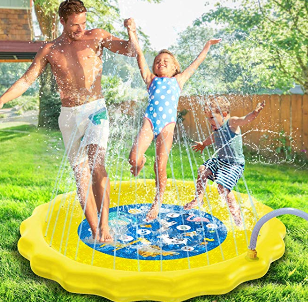 Amazon: KidPal Sprinkle and Splash Play Mat Splash Pad Outdoor Water Play – $8.39