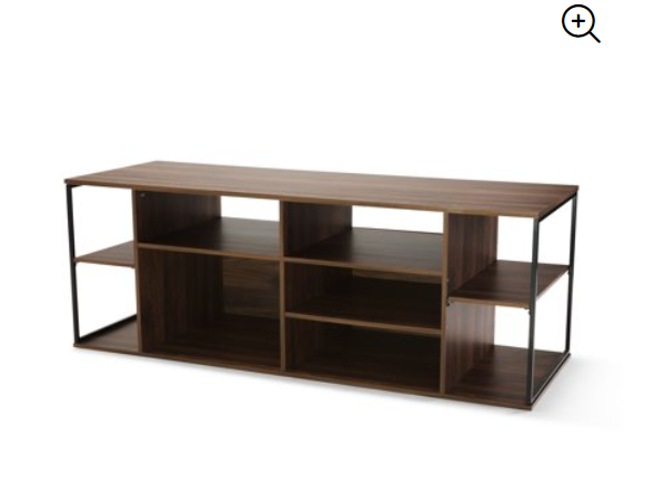 Walmart: Mainstays Kalla Wood and Metal Adjustable Shelf TV Stand for TVs up to 100 lbs, Multiple Colors – $29.67