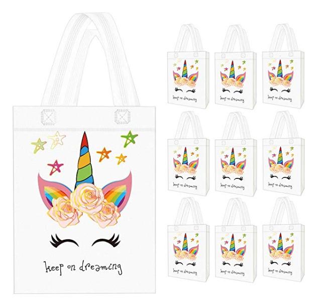 Amazon: Seakcoik 10 Pack Unicorn Party Favor Gift Bags with Dreamlike Unicorn Design – $5.99