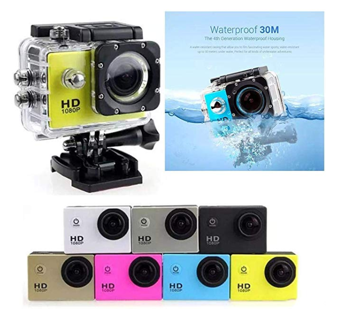 Amazon: erholi HD 1080P Outdoor Sports DV Camera Waterproof Recorder Sports & Action Video Cameras – $11.97