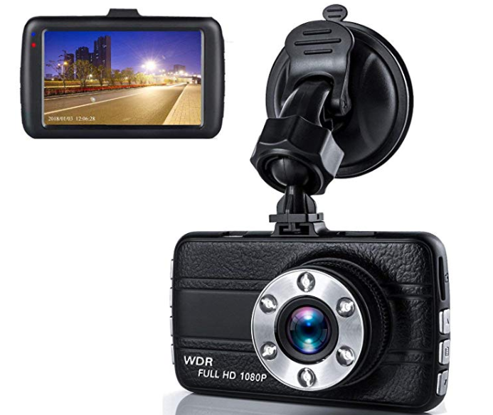 Amazon: Dash Cam,Dashboard Camera, Frehoy Full HD 1080, 3.0″ Screen DVR Car Dashboard Camera Recorder with 170° Wide Angle, Night Vision, G-Sensor, WDR, Loop Recording6 Motion Detection, Parking Monitor – $12