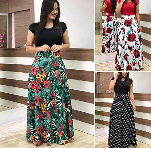 Amazon: isopeen Women Casual Long Dress Short Sleeve – $11.99