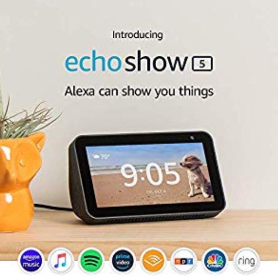 Amazon: Introducing Echo Show 5 – Compact smart display with Alexa – Charcoal – $49.99