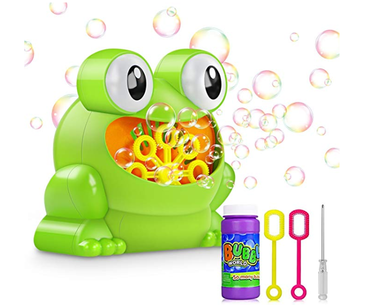 Amazon: Bubble Machine Automatic Bubble Blower with A Bottle of Normal Bubble Solution – $6