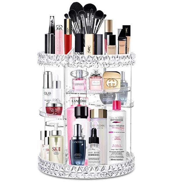 Amazon: alvorog Makeup Organizer 360 Degree Rotating Cosmetic Storage Case – $13.79