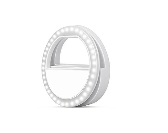 Amazon: Lumi Ring – Selfie Ring Light for Smart Phones and Tablets, White – $3.97