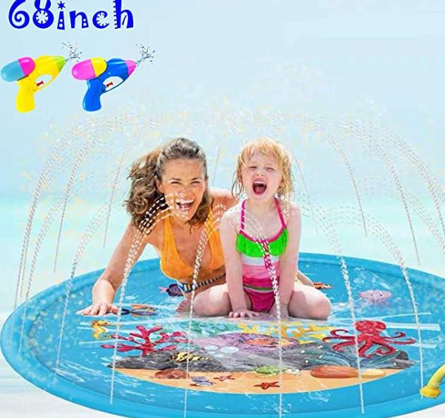 Amazon: 3 in 1 Baby Pool, 68″ Splash Pad – $9.49