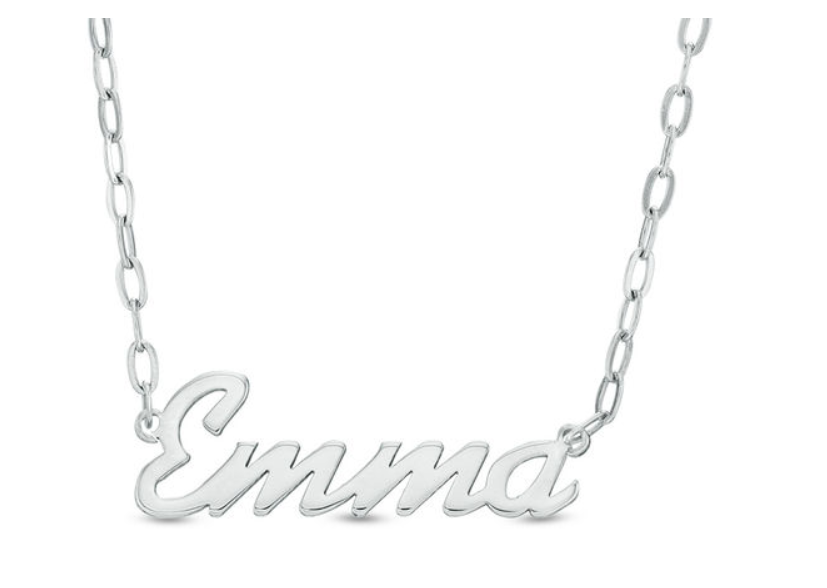 Zales: Name Necklace in Stainless Steel (1 Line) – $14.50