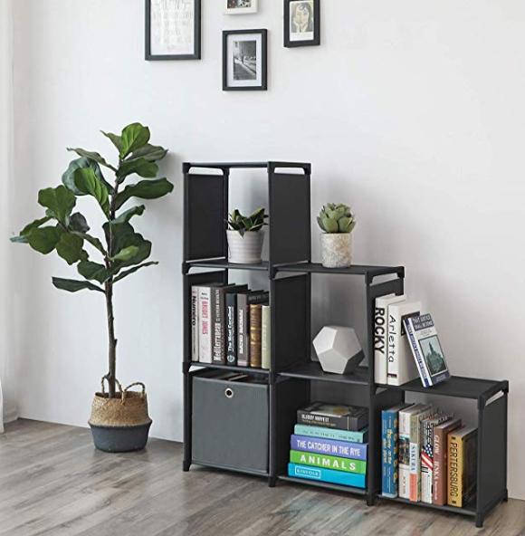 Amazon: SONGMICS 3-Tier Storage Cube Closet Organizer Shelf 6-Cube Cabinet Bookcase – $9.99