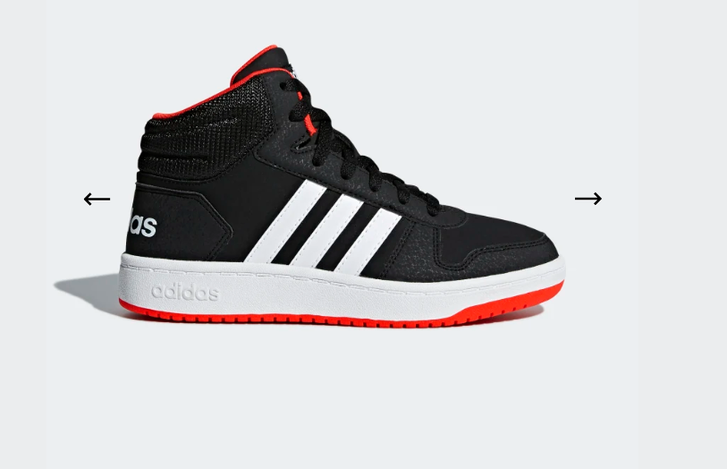 Adidas: HOOPS 2.0 MID SHOES – $19.60