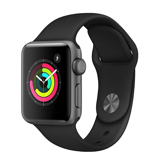 Amazon: Apple Watch Series 3 (GPS, 38mm) – Space Gray Aluminium Case with Black Sport Band – $199