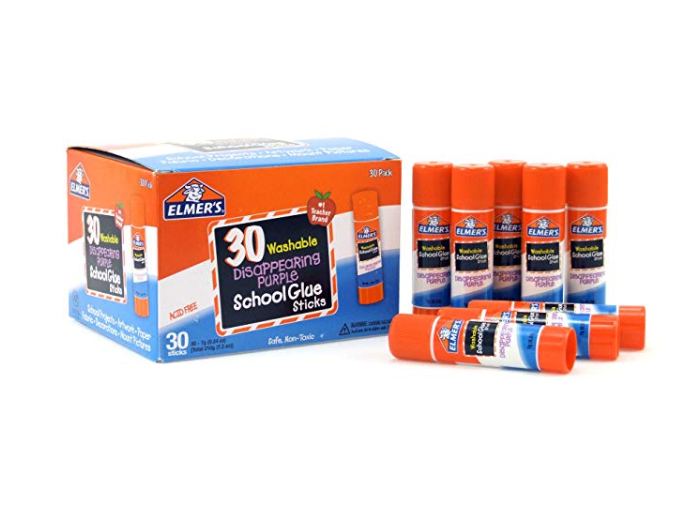 Amazon: Elmer's Disappearing Purple School Glue, Washable, 30 Pack – $6.63