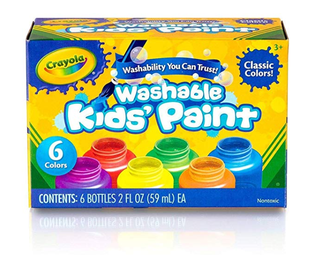 Amazon: Crayola Washable Kids Paint, Classic Colors, 6 Count, Painting Supplies – $4.27
