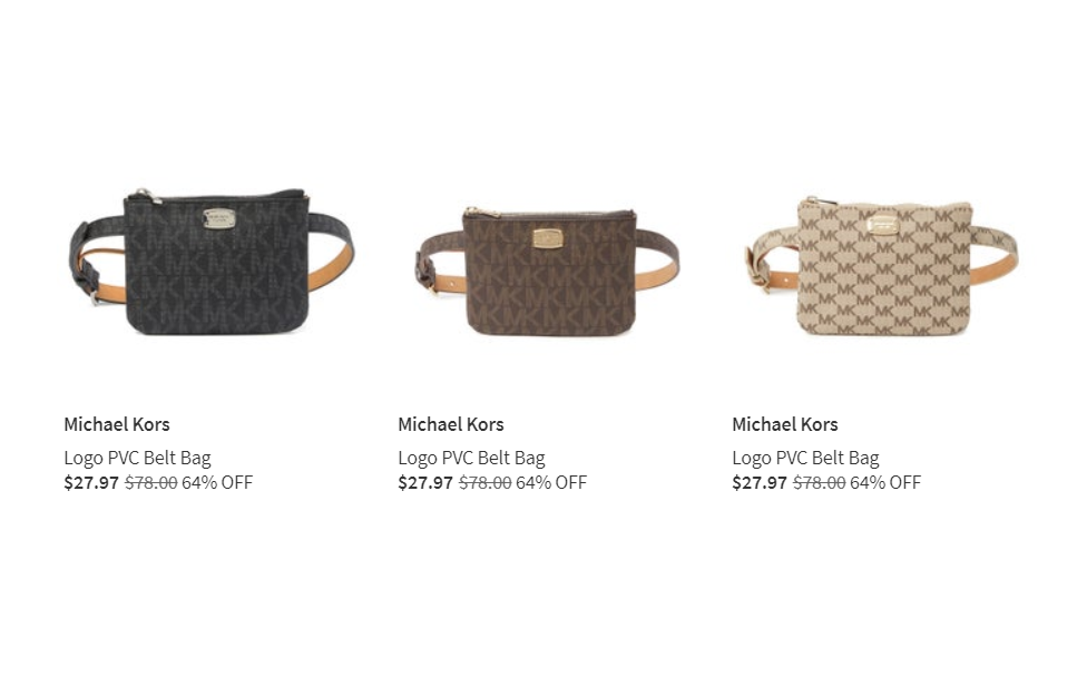 Nordstrom: Michael Kors Logo PVC Belt Bag – $27.97