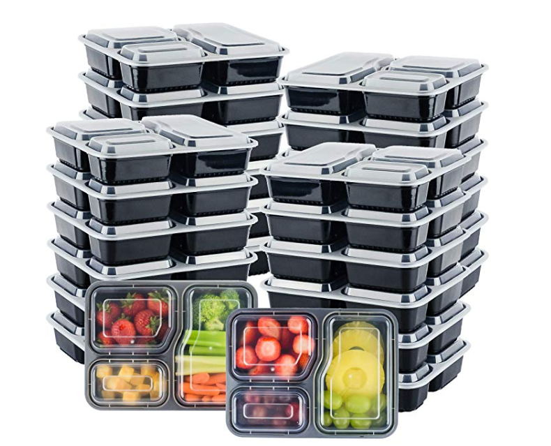 Amazon: Galashield Meal Prep Containers [20 Pack] 3 Compartment with Lids – $8.99