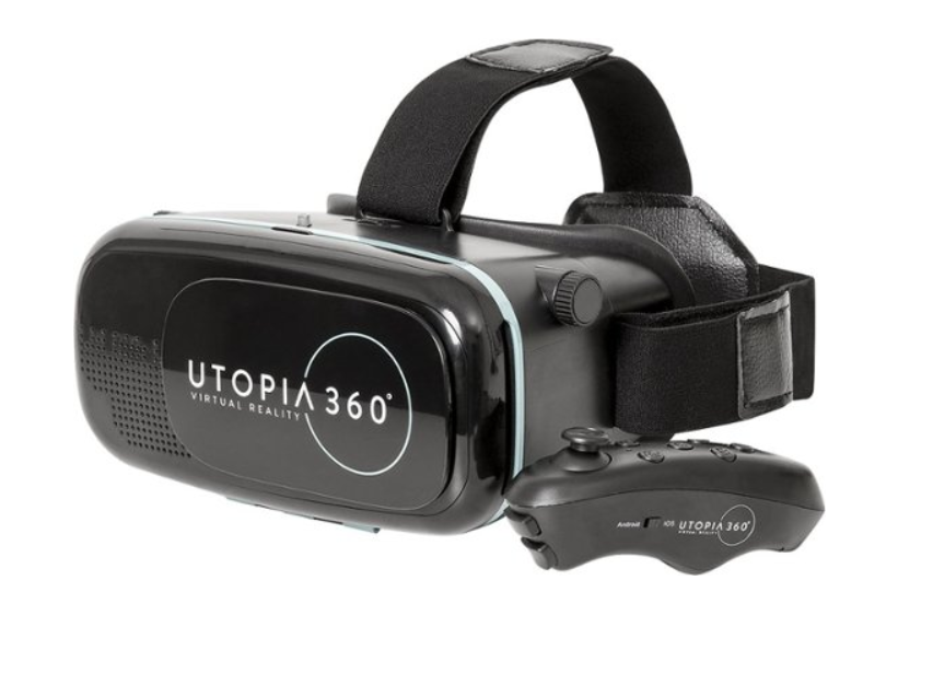 Best Buy: ReTrak – Utopia 360° Virtual Reality Headset with Bluetooth Controller – Black – $5.99